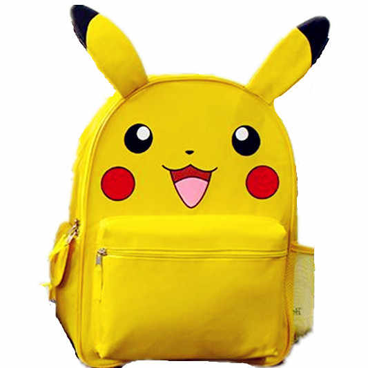 9cd3298d9178 Detail Feedback Questions about Monster Yellow Pikachu Small Big School Backpack  Book Bag with Ear for Kids Mochila Xmas Gift on Aliexpress.com