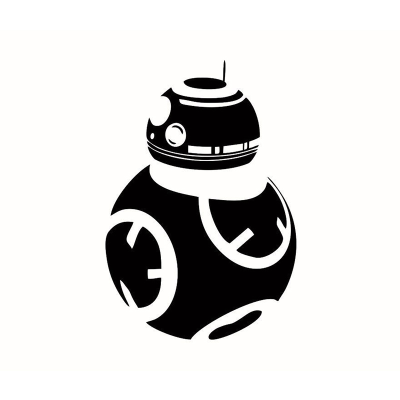 <font><b>STAR</b></font> <font><b>WARS</b></font> Droid Wall Sticker Decal - Choose Size & Color - The Force Awakens