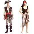 Женщины Мужчины Пираты Джек Воробей Необычные Платья Взрослый Костюм Косплей Маскарад Карнавал Хэллоуин Костюм