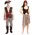 Women Men Pirates Jack Sparrow Fancy Dress Adult Costume Cosplay Masquerade Carnival Halloween Costume