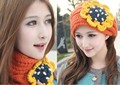 2017 Autumn and winter free shipping Wool knitted women's fashion headband cap and scarf winter accessories