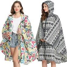 Poncho imperméable pour femme, manteau de pluie imperméable avec capuche et fermeture éclair, pour la randonnée, la randonnée, le cyclisme