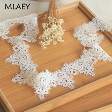MLAEY High quality Off-white  Lace Trim, Delicate  Floral Lace ribbon ,  Venise Lace Fabric for Costumes floral lace
