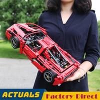 Red Supercar BELA 9186 Enzo 1:10 Racing Car Technic Building Blocks Classic Vehicle Collection Fans Model Bricks LegoINGlys 8653