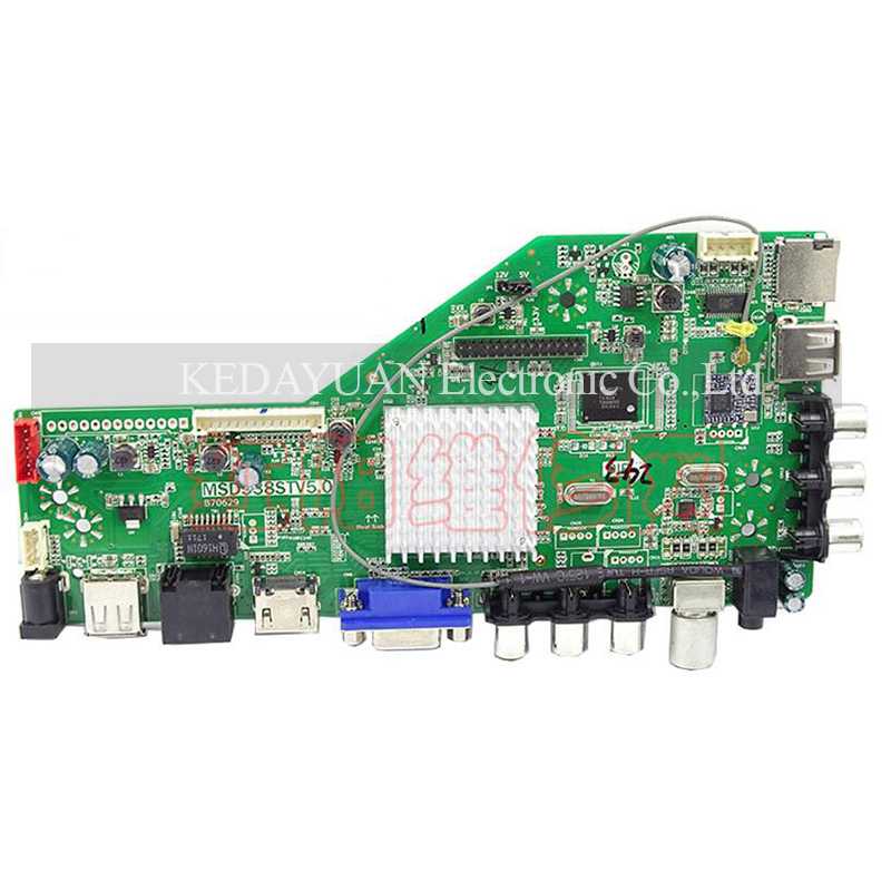 Msd338stv5.0 Intelligent Wireless Network Tv Driver Board Universal Smart Lcd Controller Board Android Ram 1g And 4g Storage
