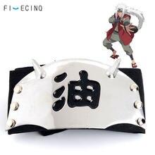 Cinta para la cabeza de Jiraiya, accesorios de disfraz de Anime, sombrero de niño y adulto, cinturón de cabeza Ninja negro, accesorios divertidos para regalo