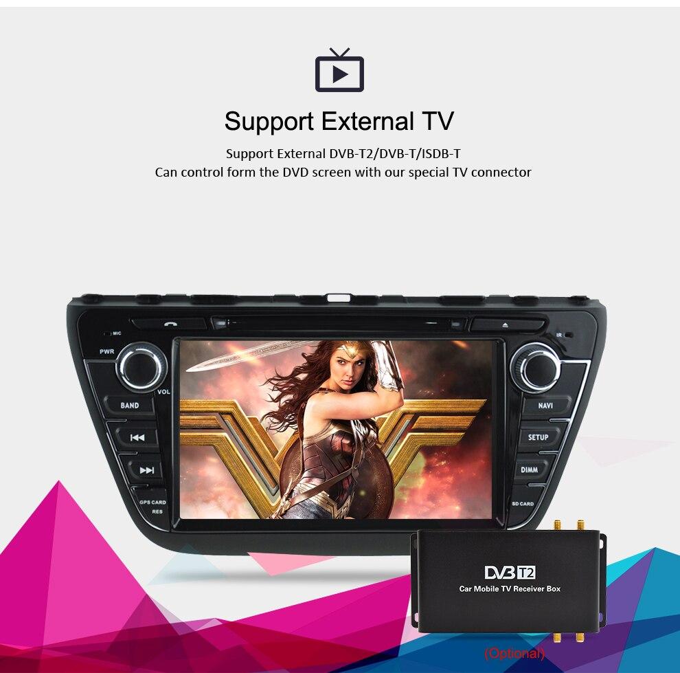 Image 4 - Android 9,0 автомобильный Радио DVD стерео для Suzuki SX4 S Cross 2014 2015 2016 аудио GPS; Мультимедийный проигрыватель Bluetooth видео навигация-in Мультимедиаплеер для авто from Автомобили и мотоциклы