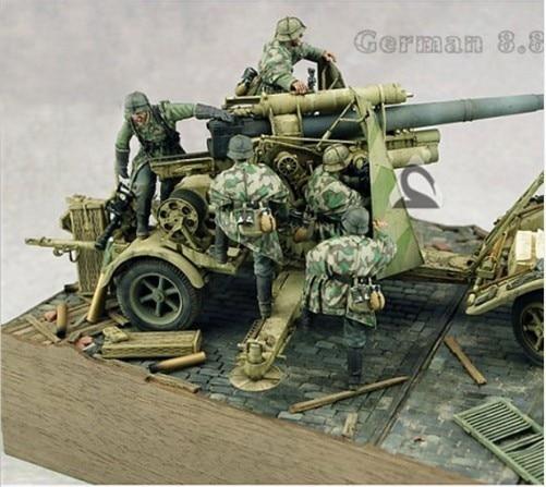 1/35 Scale WW2 German Anti Aircraft Gun Groups 5 Figures