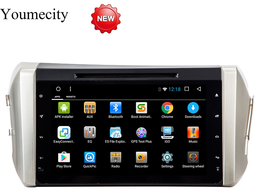 купить Android 8.1 Car dvd player head unit for Toyota Innova Crysta navigation wifi Octa core RDS 2G RAM+32G ROM+TDA7850 IC IPS Screen по цене 19379.29 рублей