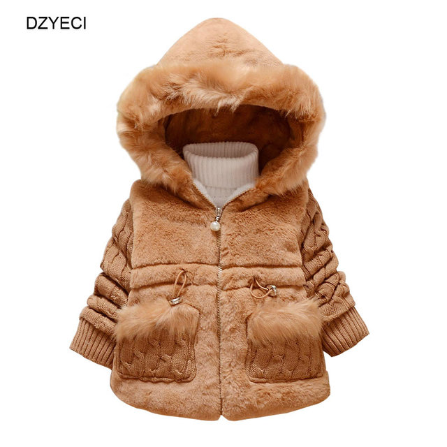 25293750c7a0 DZYECI Winter Faux Fur Coat For Baby Girl Jacket Clothes Christmas ...
