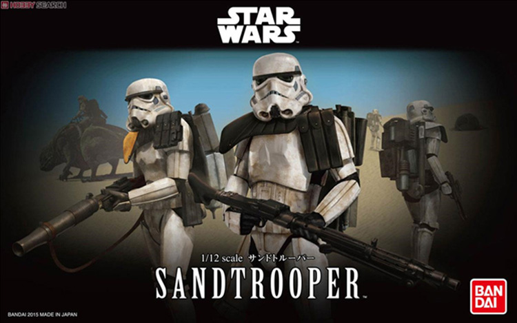 Free Shipping 2015 New Genuine Bandai 1:12 Scale Star Wars Sandtrooper Plastic Model Building Kits DIY Toys 2015 new genuine bandai 1 48 scale star wars snow speeder modified incom t 47 airspeeder plastic model building kits diy toys