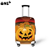 ONE2 Design Halloween Jack-o-lanterns pumpkin lantern luggage cover to 18-30 inch for teenager women man girl boy college udents