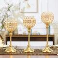 Золотой кристаллический марокканский подсвечник  подставка для свадьбы  романтическая металлическая подсвечница  Большой Подсвечник X6T021