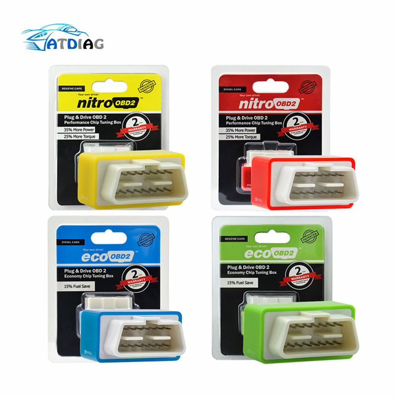 OBD2 Car Nitro  Performance Chip Tuning Box NitroOBD2 OBD Interface Plug And Drive More Power More Torque Works For Diesel Cars