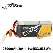 TATTU Lipo Battery 11.1V 2300mAh Lipo 3s 45C Battery XT60 Plug Battery for FPV Quadcopter RC Plane Drone UAV Remote Control Car