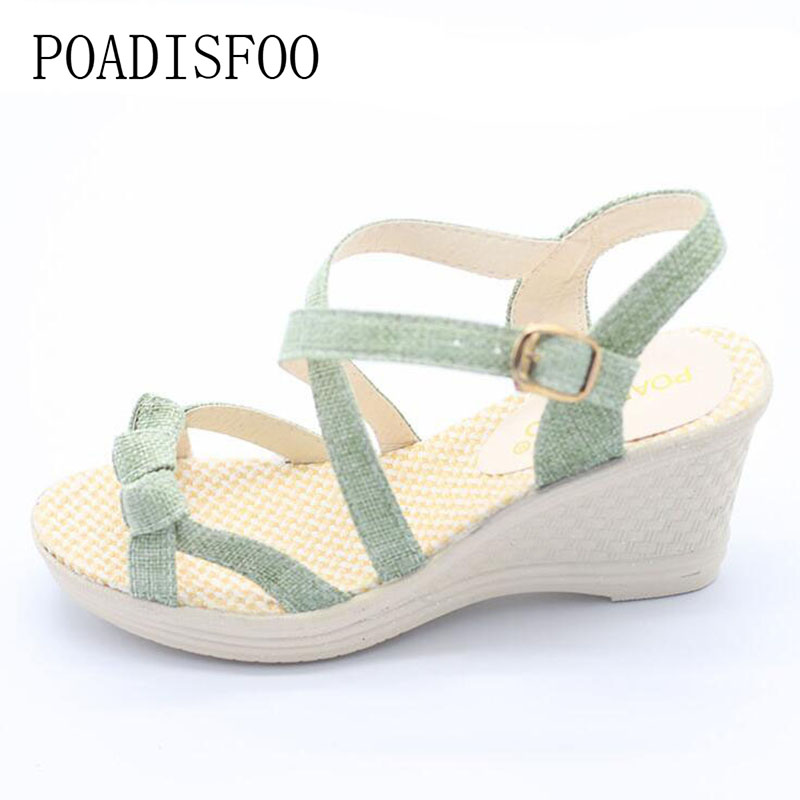 2017 Summer Korean Version Of The New Slope With The Round Head shoes, Loose sandals, Thick Female Sandal .HYKL-8001 колье из серебра с муранским стеклом клюква 715 40