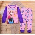 Весна осень Babys Пижамы Хлопка Пижамы девушки Одежда высокого качества Ребенка Комплекты Белья костюмы дети пижамы устанавливает 2-7y b32