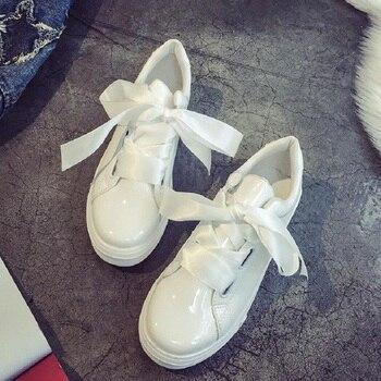 20172018 hudiejie новые модные девушки ленты лук обувь, женская кружевная обувь студентов Размер 36-40