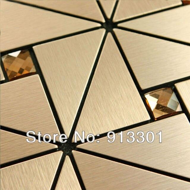 Metal mosaic tile deco mesh kitchen backsplash flooring bathroom ...