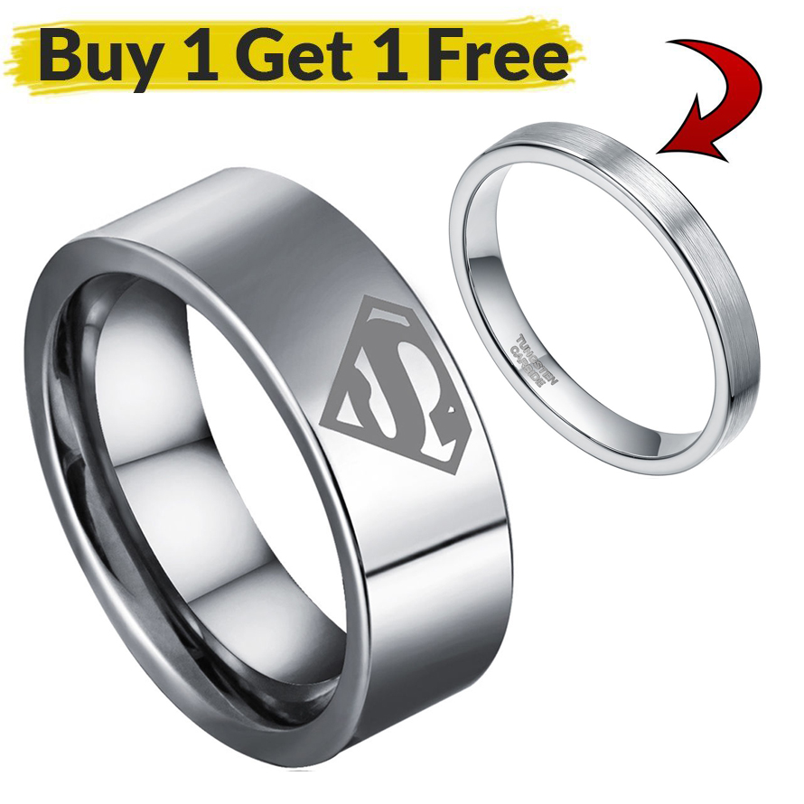 Online Get Cheap Tungsten Superman Wedding Rings Aliexpresscom