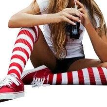 Хлопковые носки для девочек красно-белые носки в полоску motion теплые детские носки разнообразных Новинка сетчатые длинные носки до колена Мягкий хлопок гольфы Wholesale12