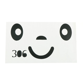 Smile Face Stickers Personalized Diy Toilet Furniture Decoration Wall Decals Fridge Washing Machine Bathroom Car Sticker Gift image