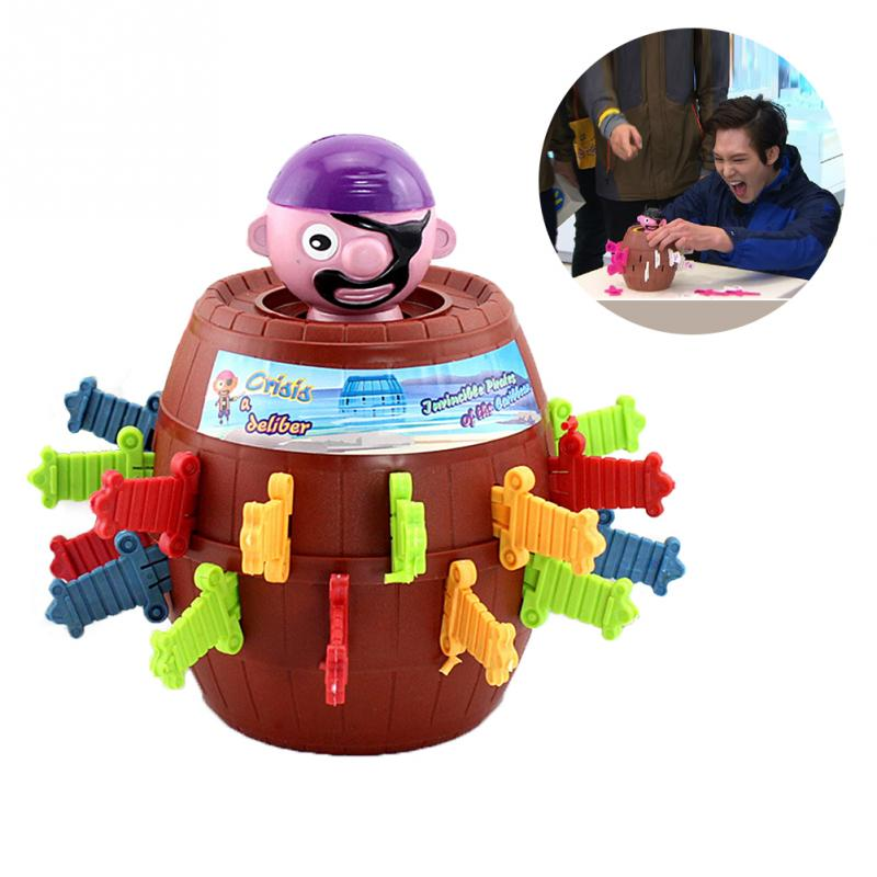 Kids Funny Gadget Pirate Barrel Game Toys for Children Lucky Stab Pop Up Toy interactive toys barrel crisis novel whimsy classic family funny game toys money bank baby kids toys lucky pirate game gifts