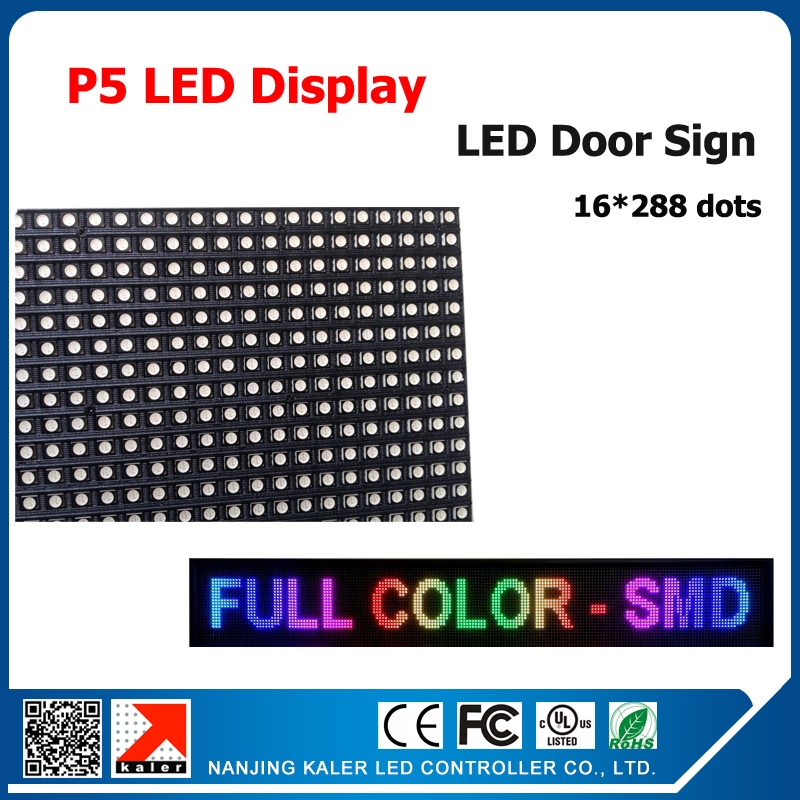 TEEHO Asynchronous RGB LED Screen Display P5 16*288cm Video Display Screen For Animation, Video,message, Picture With Usb Port