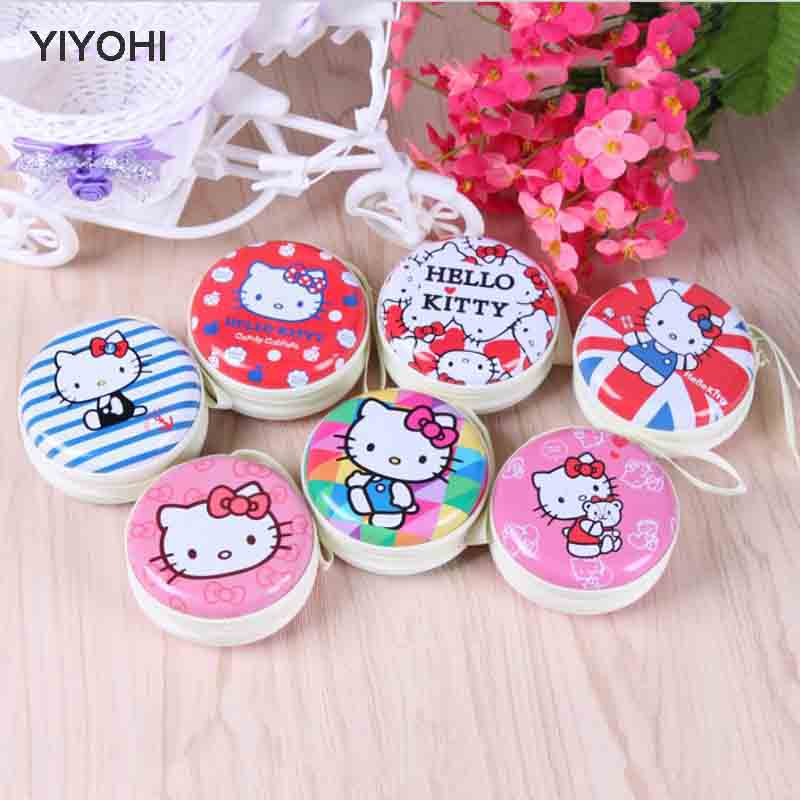 YIYOHI 2017 New Fashion Cartoon Coin Purse Hello Kitty Princess Girls Key Case Wallet Children  Headset Bag Women Coin Packet cute cartoon mini coin purse girls key case wallet children headset bag coin bag zipper handbag children gifts piggy pecs