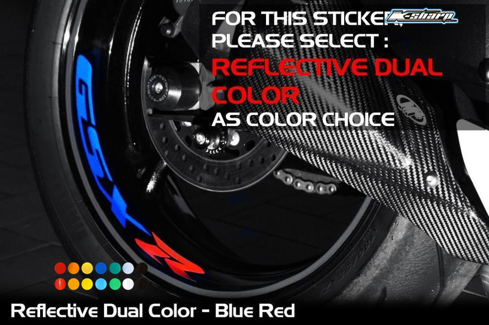 For SUZUKI GSXR Custom Inner Rim Declas Wheel Reflective Stickers Stripes