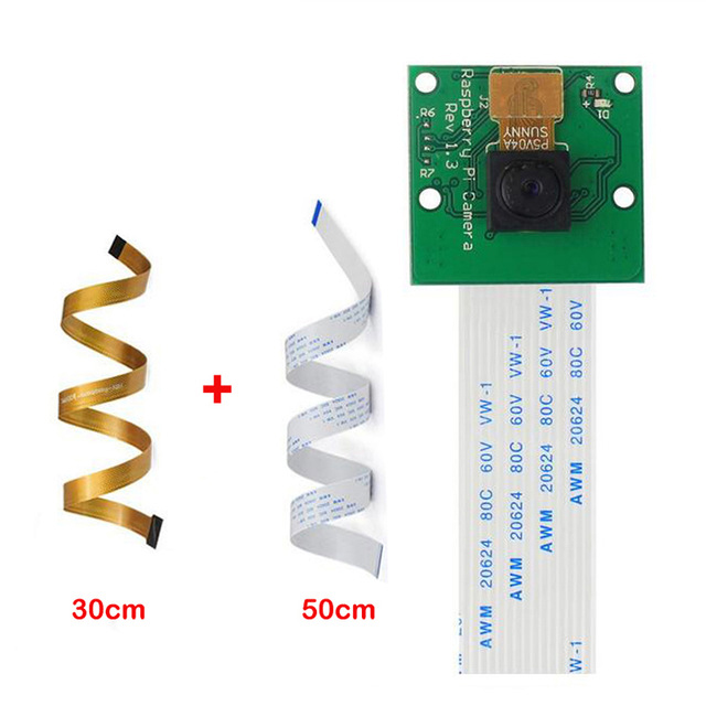 Camera Cable For Raspberry Pi Camera Module 5MP 1080p With 30cm Pi Zero Camera Ribbon Cable And 50 Cm Pi 3 For Raspberry Pi B+ 2