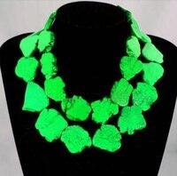 Elegancki naszyjnik choker kobieta biżuteria bling zielony kamień kromka handmade prezent przesadzać kobieta biżuteria charm