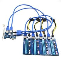 1Set PCI E 1X To 4 PCIE 16X Slots Riser External Adapter PCI E Port Card