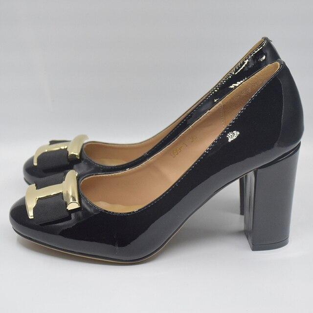 2019 New Women Genuine Leather Shoes High Heel Ladies Pumps Brand Designer Wedding  Shoes . DA027 71956ba3865e