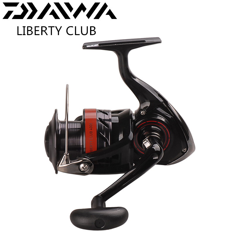 NEW DAIWA LIBERTY CLUB Spinning Fishing Reel 2000/3000/3500/4000 Full Mental 3+1BB Saltwater Reels Carretes Pesca Molinete Peche tsurinoya tsp3000 spinning fishing reel 11 1bb 5 2 1 full metal max drag 8kg jig ocean boat lure reels carretes pesca molinete