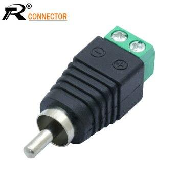 3 unids/lote CCTV Phono RCA conector macho a Terminal AV Video AV Balun estándar internacional