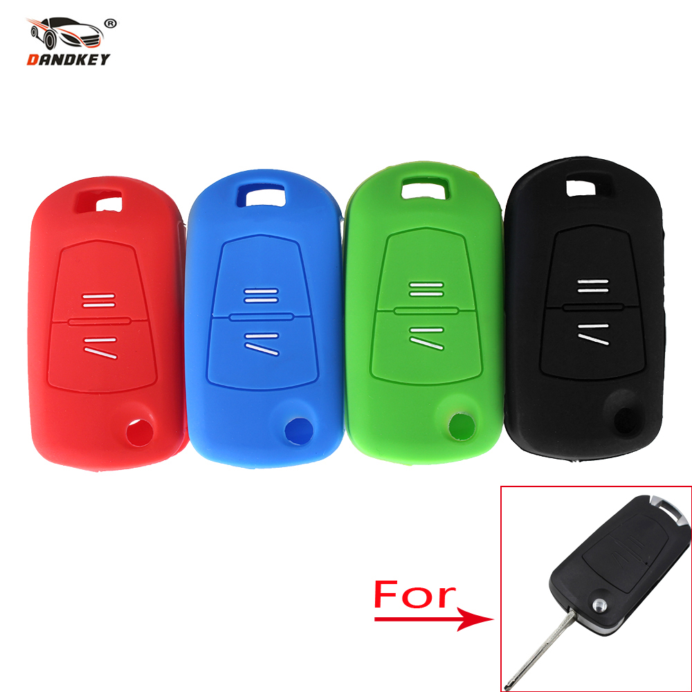 Flip Remote Key Silicone Case Fit For 2 Buttons Opel Vauxhall Corsa Kadett Monza