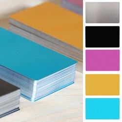100Pcs 0.2 milímetros de Alumínio Ultra-fino Cartão de Visita Cartão de Liga de Alumínio A Laser Marcação Negócio de Gravação Do Cartão de Acesso em branco