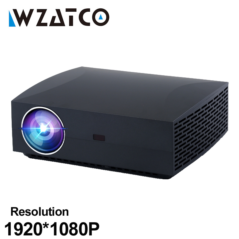 WZATCO F30 Full HD Projector 5500Lumen 1920x1080 Resolution LED Projector for Home Theater Video Beamer 3D