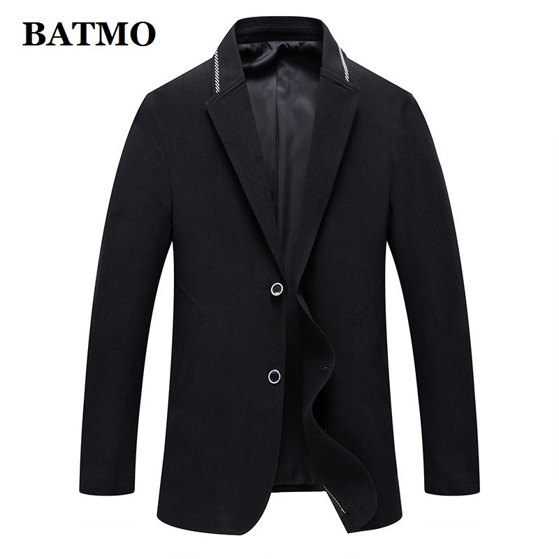 BATMO 2019 New Arrival Spring High Quality Cotton Casual Blazers Men,male Suits Men,casual Jackets Men,plus-size 9808A