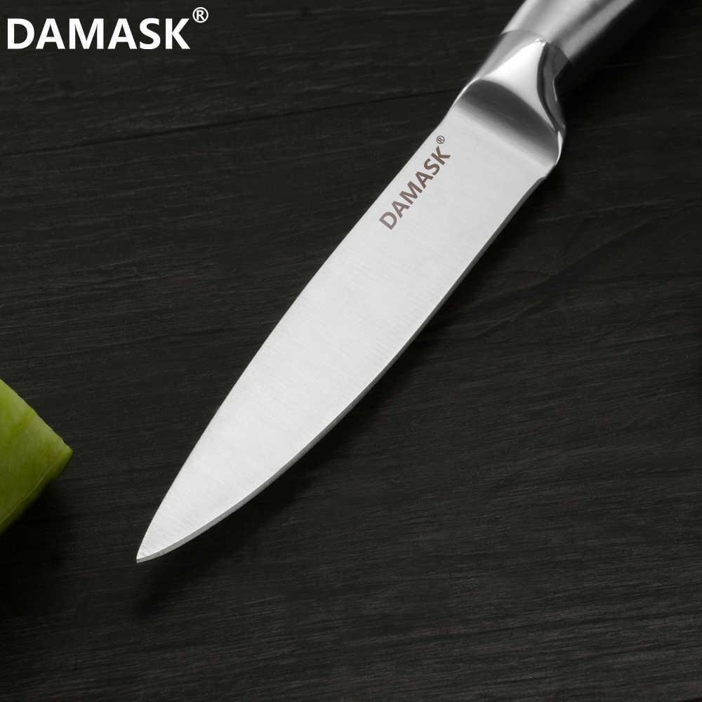 Damask ญี่ปุ่น Chef มีดครัวมีดสแตนเลส Professional Chef's Meat Cleaver Ultra Sharp Gyutou เครื่องมือทำอาหาร