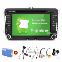 Quad Core Android 6.0 2Din 7 Pulgadas de Coches Reproductor de DVD para VW GOLF 5 6 POLO PASSAT CC JETTA TIGUAN TOURAN EOS SHARAN SCIROCCO CADDY