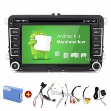 Quad Core Android 6.0 2Din 7 Cal Samochodowy Odtwarzacz DVD dla VW GOLF 5 6 POLO PASSAT CC JETTA TIGUAN TOURAN EOS SHARAN SCIROCCO CADDY