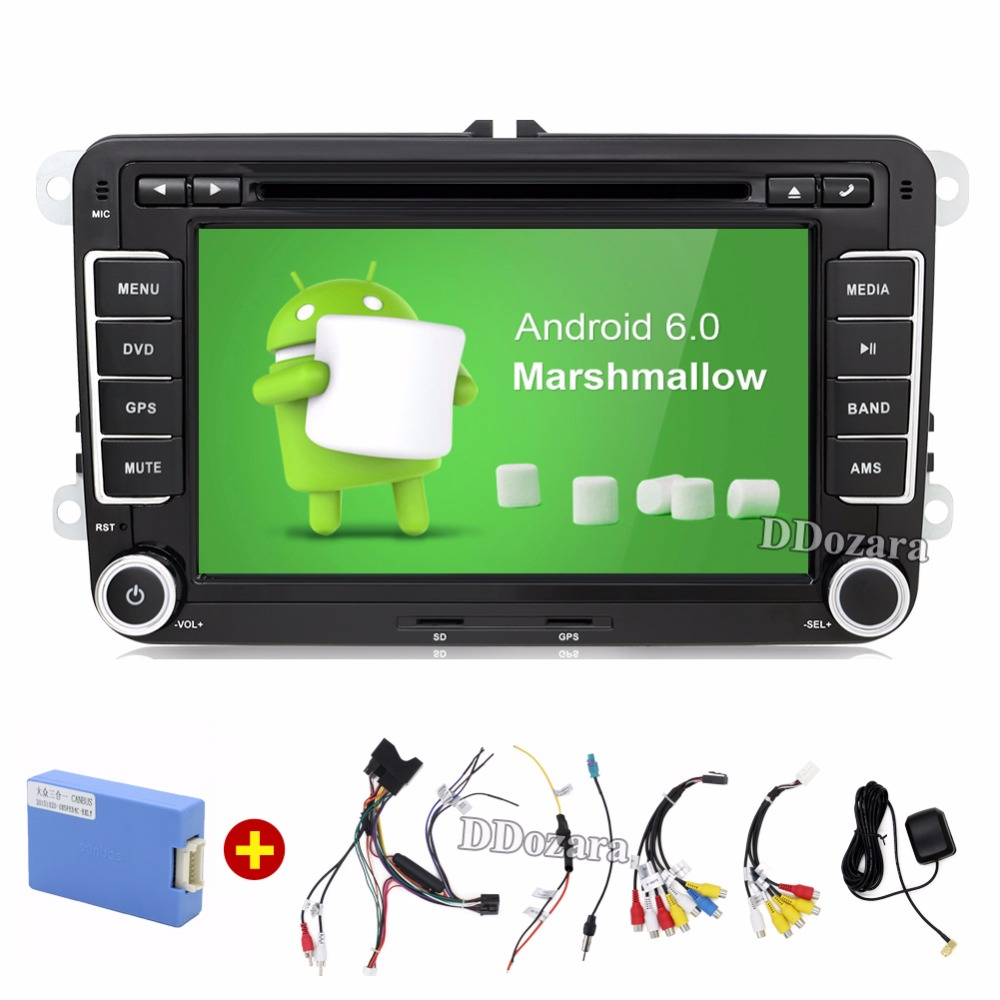 Quad Core Android 6 0 2Din 7 Inch font b Car b font DVD Player for