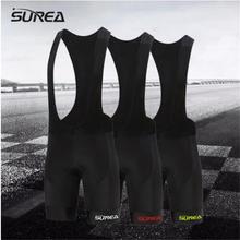 SUREA велосипед нагрудник короткий черный логотип Для мужчин верхняя одежда велосипед Велоспорт 9D набивка для верховой езды комбинезон шорты велосипедные шорты