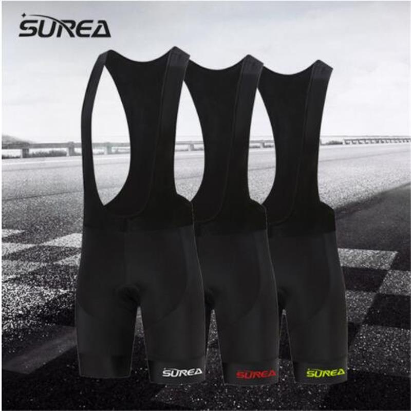 SUREA Bicycle <font><b>Bib</b></font> <font><b>Short</b></font> Black logo Men Outdoor Wear Bike Bicycle Cycling 9D Padded Riding <font><b>Bib</b></font> <font><b>Shorts</b></font> Cycling <font><b>Bib</b></font> <font><b>Shorts</b></font> image