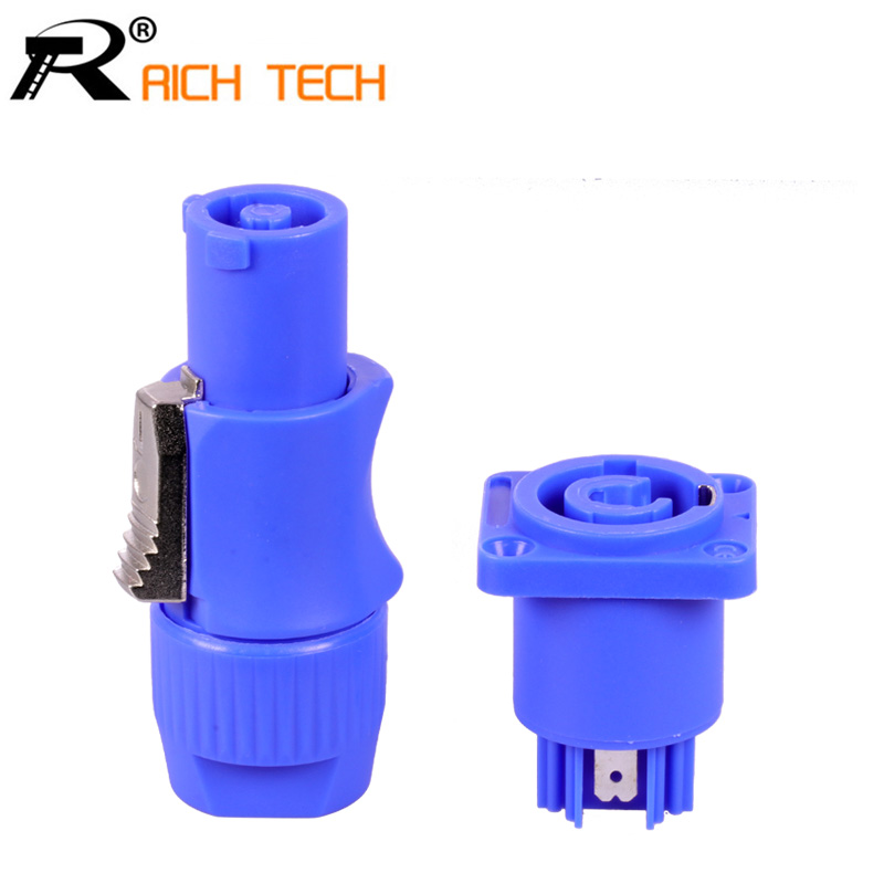 10 Sets  Male & Female PowerCON Type A NAC3FCA+NAC3MPA-1 Chassis Plug Panel Adapter 3 Pin Powercon Speaker Connector