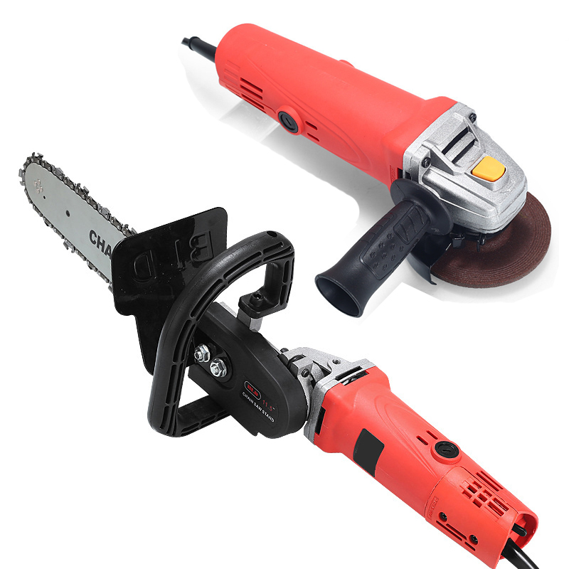700W Angle Grinder Electric Saw Parts 11.5 Inch M10/M14/M16 Chainsaw Bracket Changed 100 125 150  Angle Grinder Into Chain Saw