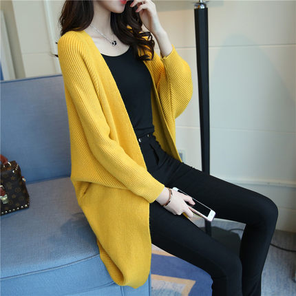 Sweaters Female Oversized-Jackets Knitted Jumper Long-Cardigan Loose Women New for Girls
