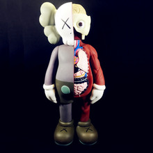 OriginalFake низов Тоби KAWS Брайан вскрытый компаньон BFF стрит-арт ПВХ фигурку Коллекция модель игрушки S161